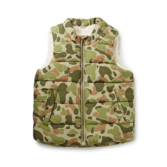 Camo Puffer Vest