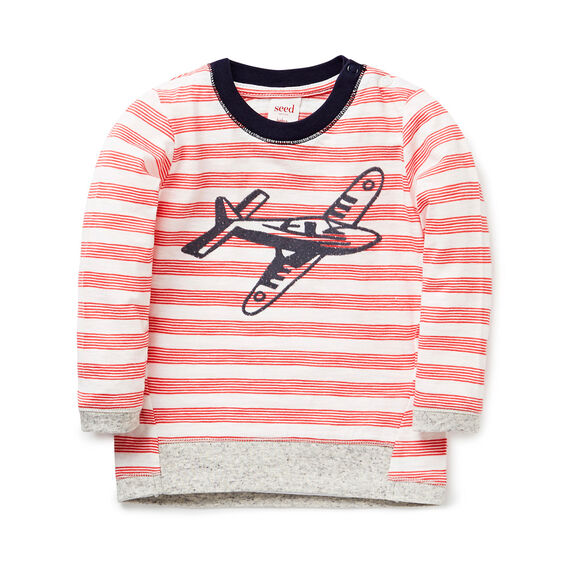 Striped Tee With Plane