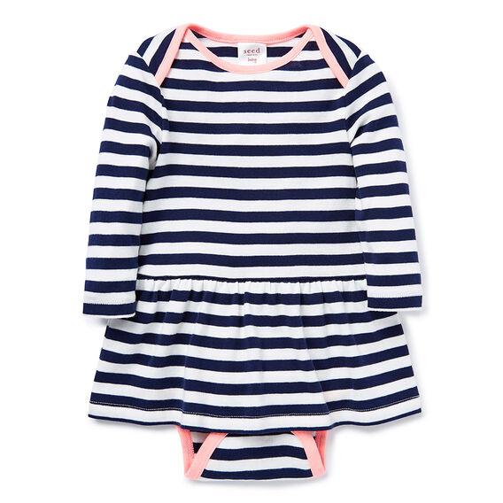Stripe LS Dress