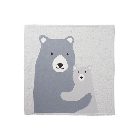 Bear Intarsia Blanket