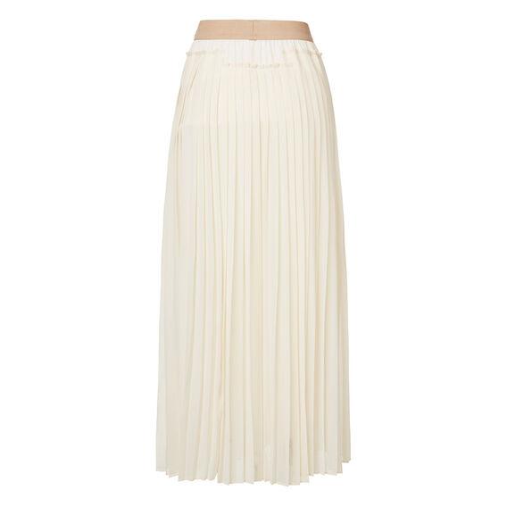 Pleat Split Skirt
