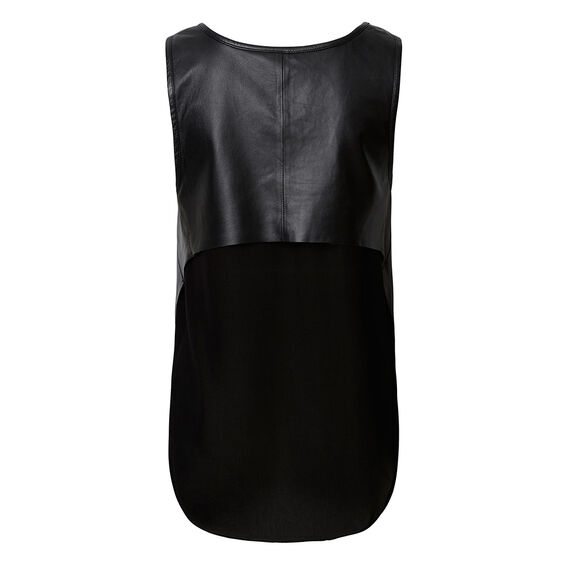Collection Splice Leather Top