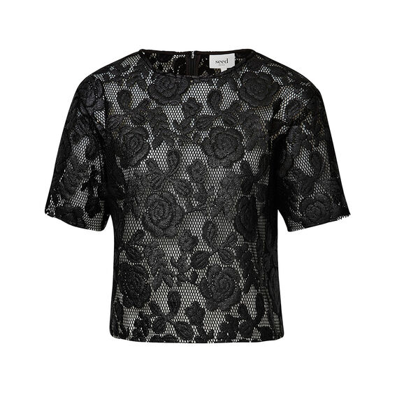 Collection Laser Cut Lace Top