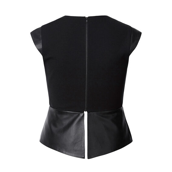Collection Leather And Ponte Bodice