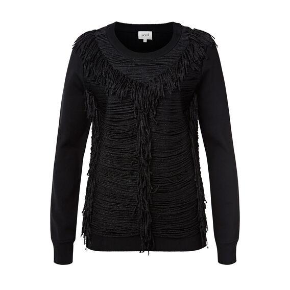 Fringe Crepe Sweater