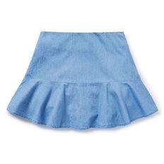 Chambray Flutter Skirt