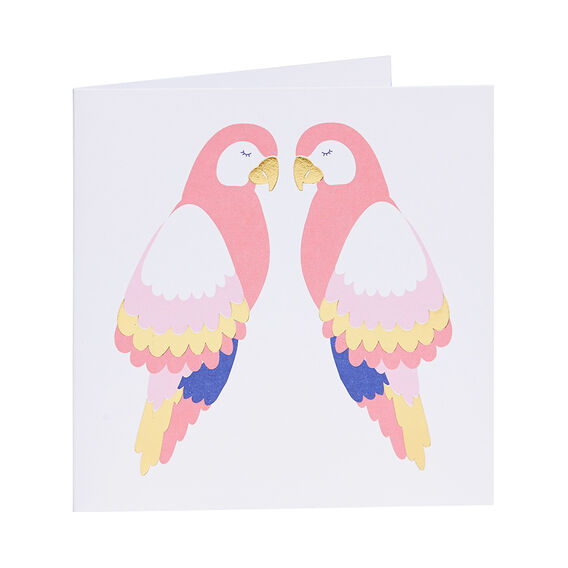 Two Parrots Card