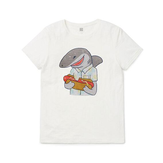 Shark Hotdog  Tee