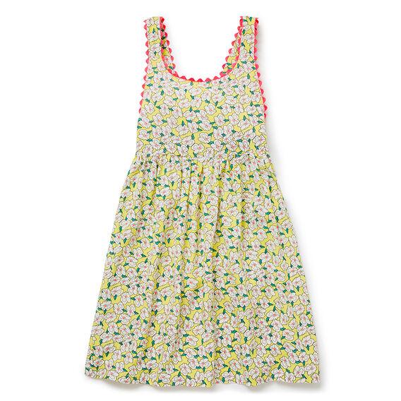 Ditsy Pinafore Dress