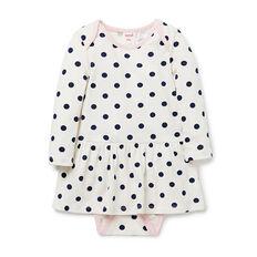 Spot LS Dress