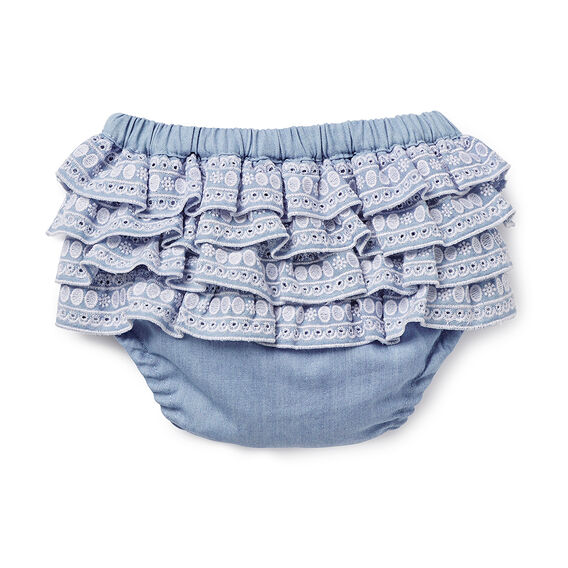 Chambray Broderie Bloomer