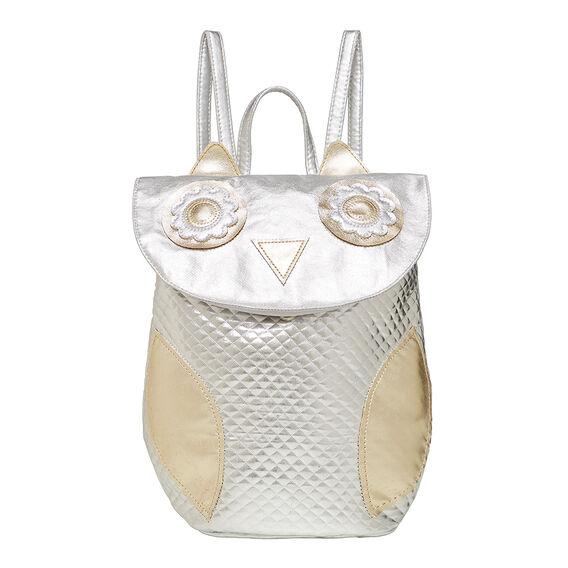 Metallic Owl Backpack
