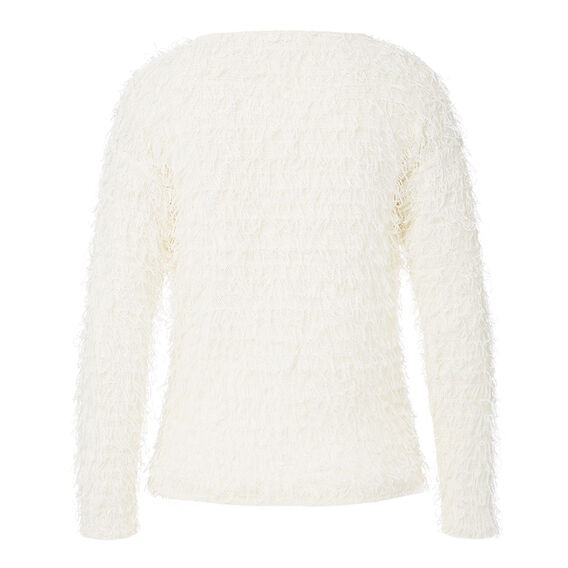 Long Hair Cropped Sweater