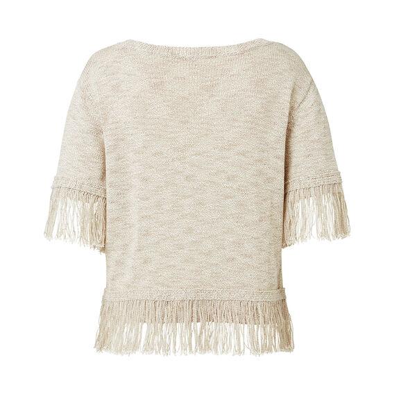 Fringe Crop Sweater