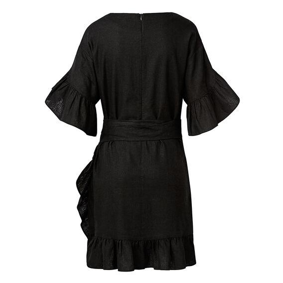 Wrap Frill Dress