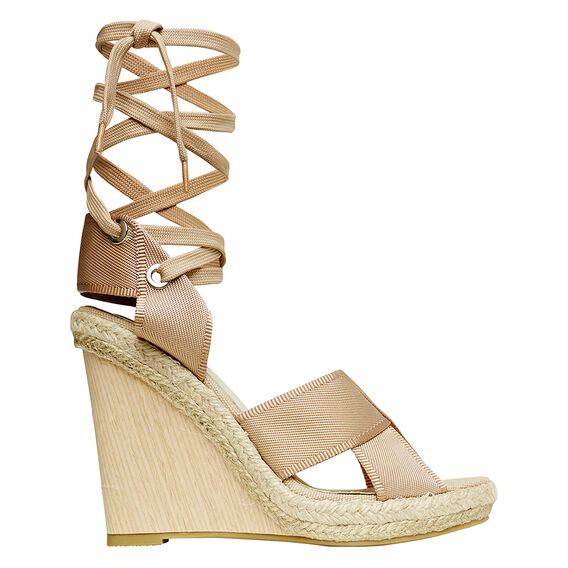 Jill Tie Up Wedge