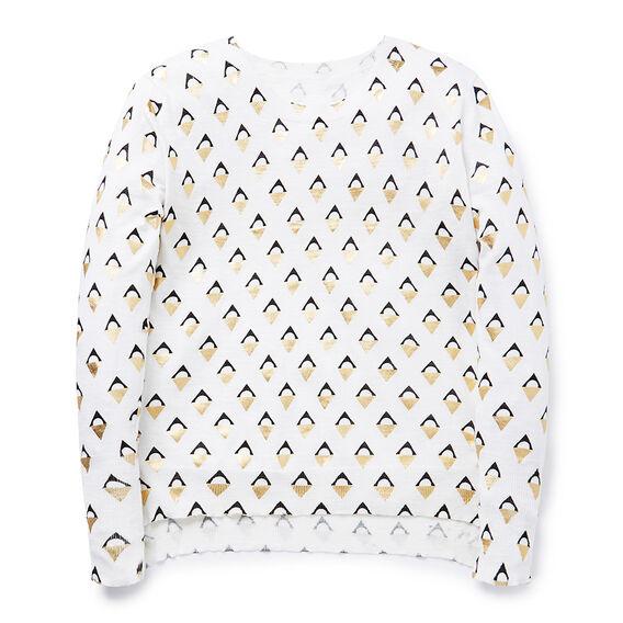 Foil Geo Sweater