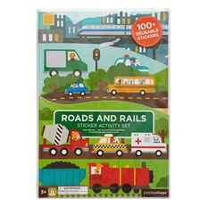 Roads And Rails Sticker Set