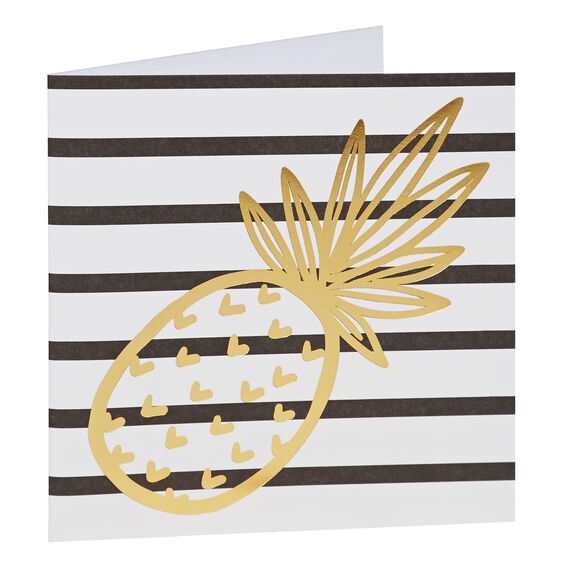 Stripe Pineapple Card