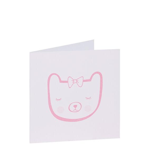Pink Bear Card