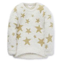 Fluffy Lurex Star Sweater