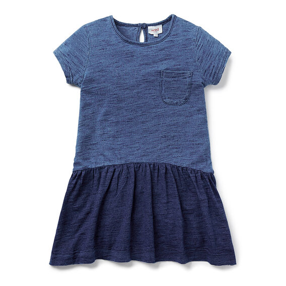 Indigo Slub Dress
