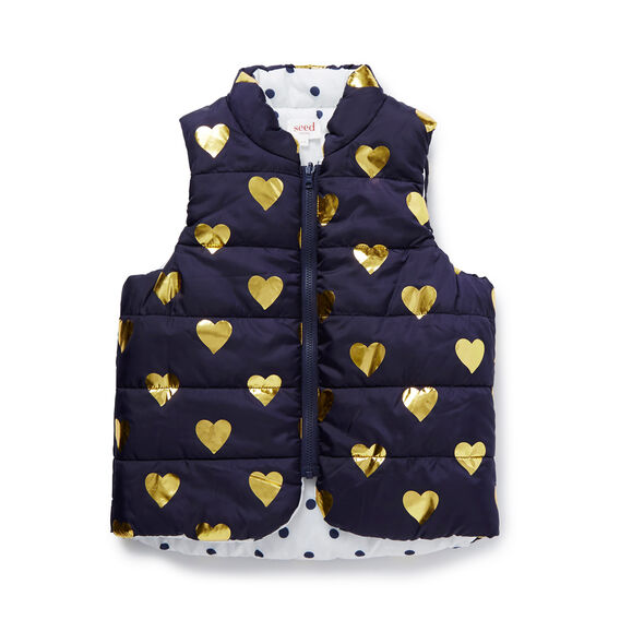 Heart And Spot Reversible Puffa