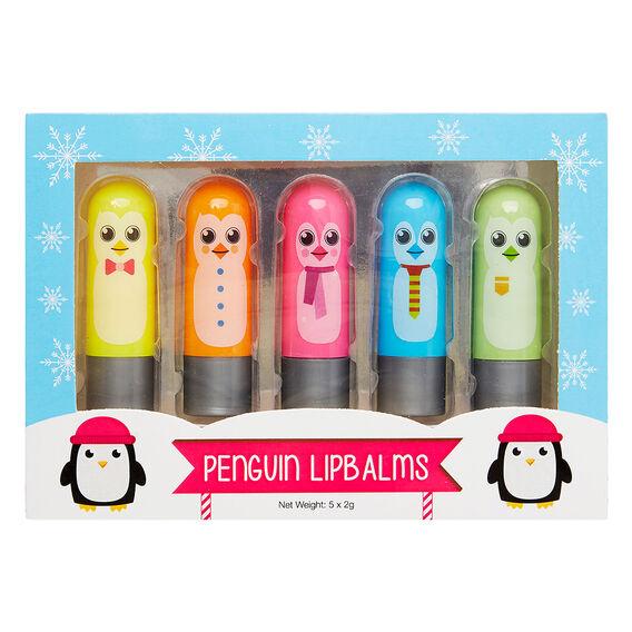 Penguin 5 Pack Lip Balms