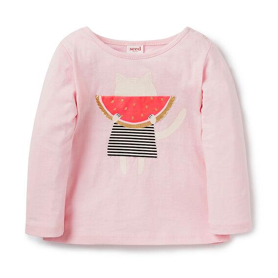 Watermelon LS Tee