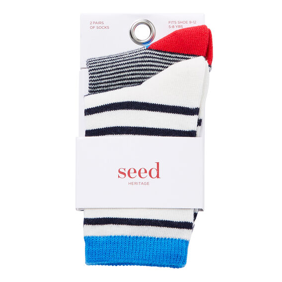 Stripe Socks 2PK