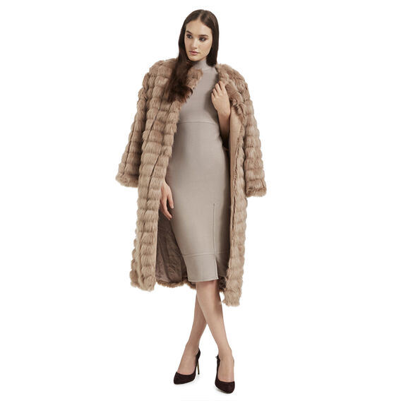 Long line Faux Fur Coat