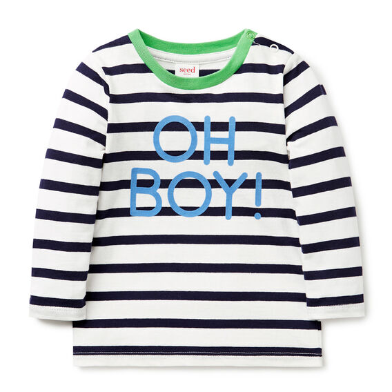 Oh Boy Stripe Tee