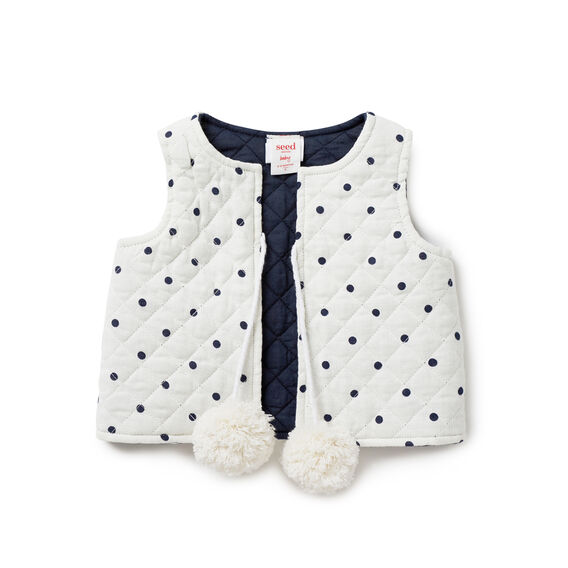 Quilted Spot vest
