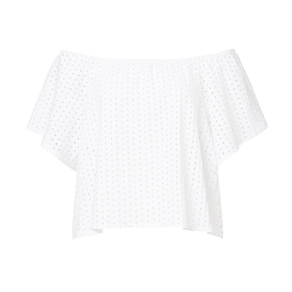 Off The Shoulder Broderie Tee