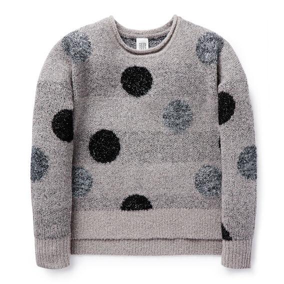 Lurex Spot Sweater