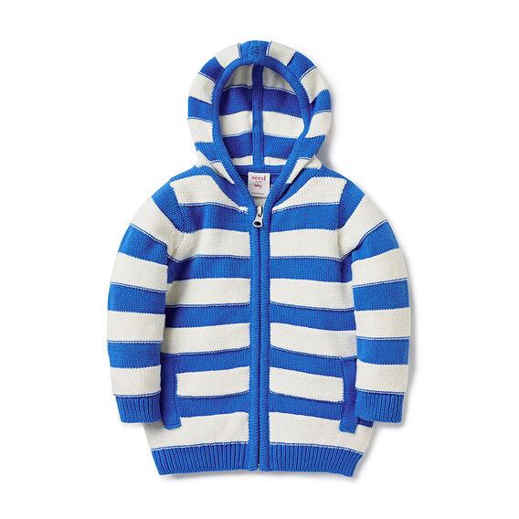 Stripe Knit Hoodie