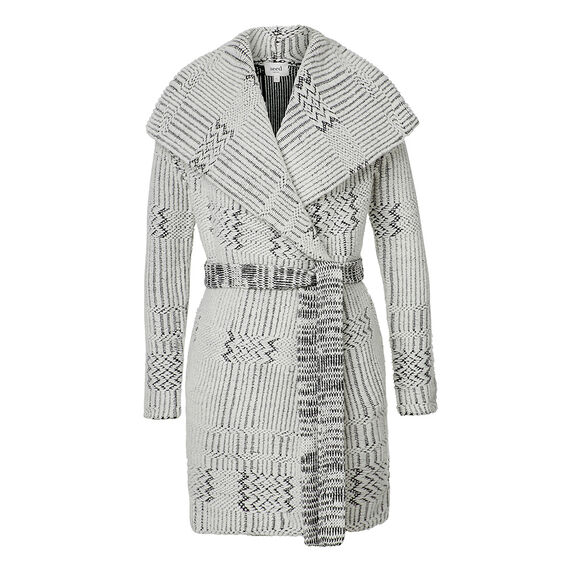 Jacquard Wrap Coat