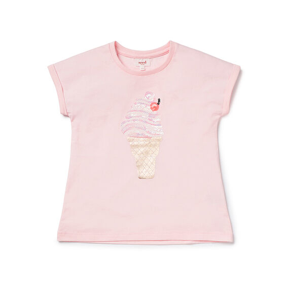 Ice Cream Sequin SS Tee
