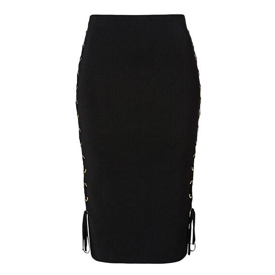 Collection Eyelet Crepe Midi Skirt