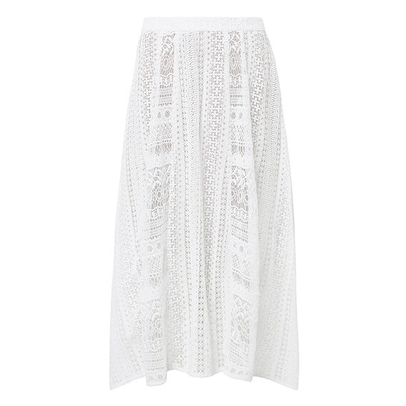 Collection Broderie Panel Skirt