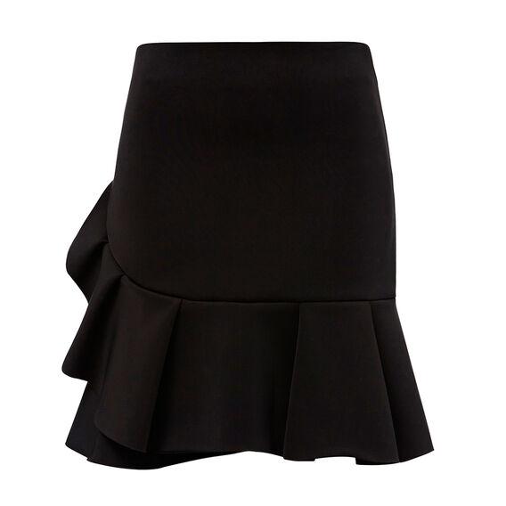Frill Hem Scuba Skirt