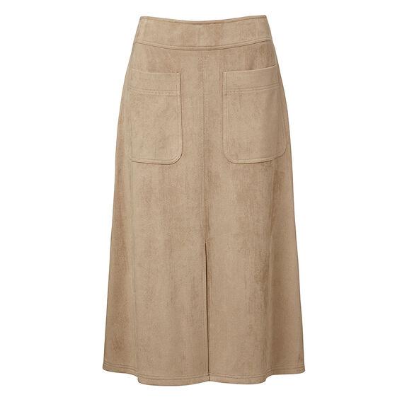 A-line Suedette Skirt