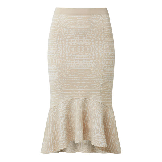 Collection Intarsia Crepe Flute Skirt