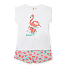 Flamingo Watermelon SS PJs