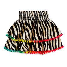 Girls Zebra Print Skirt