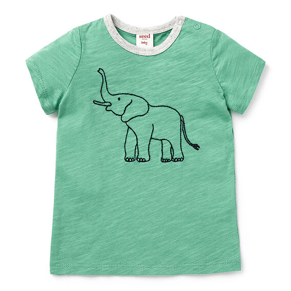 Embroidered Elephant Tee