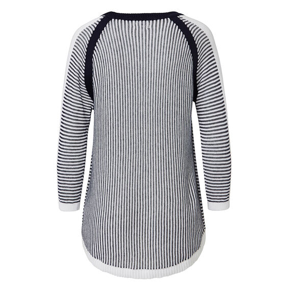 Stripe Splice Sweater