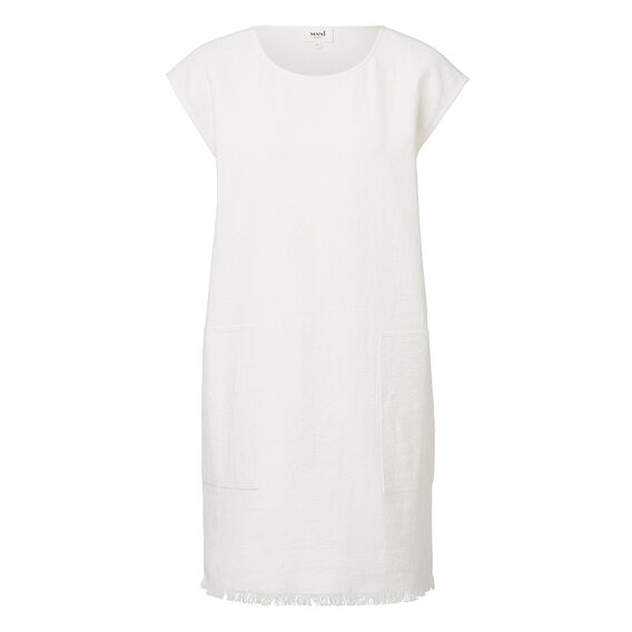 Frayed Shift Dress