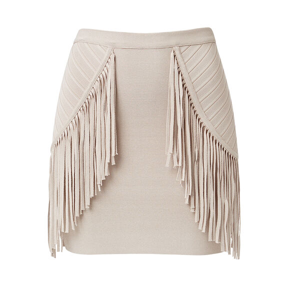 Collection  Crepe Fringe Mini Skirt