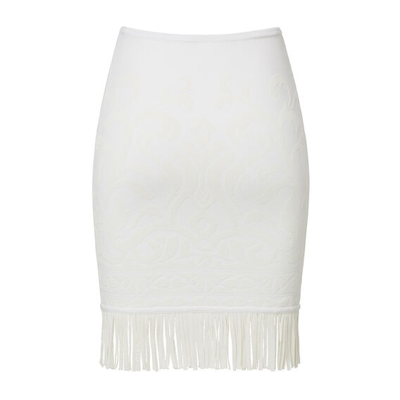 Collection Crepe Fringe Mini Skirt